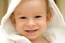 Child  In Dressing Gown Royalty Free Stock Image