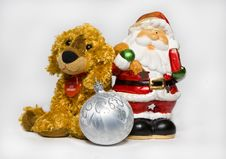 Free Father Christmas & Puppy Toy Stock Image - 3749691