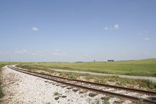 Landscape With A Railway Stock Photography