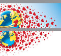 Free Planet Earth With Wedding Rings And Flying Hearts. Royalty Free Stock Image - 37420606