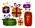 Free Rustic Folksy Christmas Gifts Clip Art Royalty Free Stock Photography - 3751977