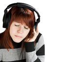 Free Pensive Girl Listening To Music Royalty Free Stock Images - 3756909