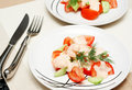 Free Two Plates Of Colorful Shrimp Salad Royalty Free Stock Photography - 3757217