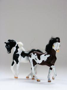 Free Plastic Horses Stock Photography - 3750772