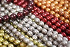 Free Colorful Pearl Strands Stock Photo - 3750810