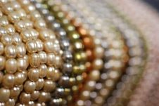 Free Colorful Pearl Strands Stock Image - 3751741