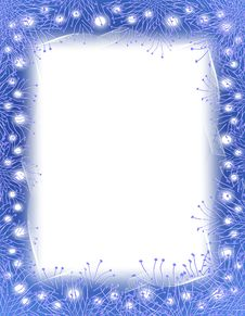 Free Blue Garland And Lights Border Royalty Free Stock Images - 3751759