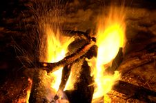 Free Flames Of A Campfire Royalty Free Stock Image - 3751816