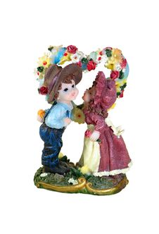 Kiss Toys (boy And Girl) Royalty Free Stock Photography