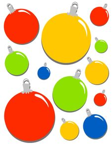 Free Christmas Ornaments Background Stock Photos - 3751903