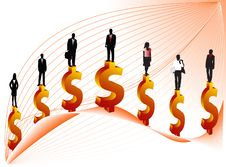 Free Business People And Dollar Royalty Free Stock Photos - 3752968