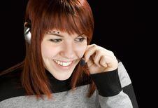 Free Smiling Call Center Redhead Stock Photos - 3753013