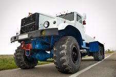 Airport Auxiliary Tractor Royalty Free Stock Photo
