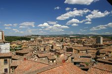 Siena, Italy Rooftops Royalty Free Stock Image