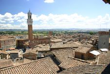 Free Siena, Italy Rooftops And Bell Tower Stock Photos - 3754043