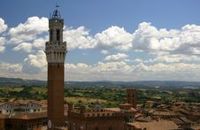 Bell Tower, Siena, Italy Royalty Free Stock Photos