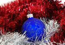Free Blue Christmas Ball Stock Photos - 3754563