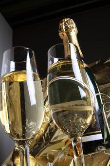Free Glass Ready For  Celebrating Stock Photo - 3754800