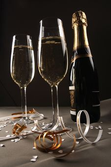 Free Glass Ready For  Celebrating Stock Photography - 3755002
