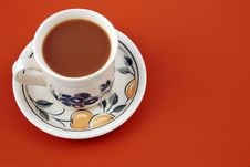 Free A Cup Of Strong White Coffee.brown Background. Stock Photos - 3755503