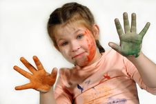 Free Multicoloured Girl Royalty Free Stock Photography - 3756387