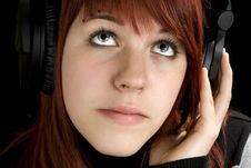 Free Girl Listening To Music Stock Photo - 3756900