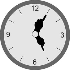 Free Clock With Hands Royalty Free Stock Photography - 3757087