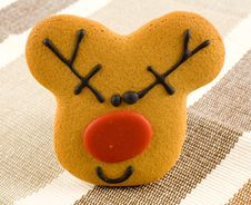 Free Christmas Gingerbread Reindeer Royalty Free Stock Image - 3757136
