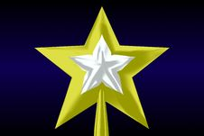 Free Golden Star On Top Of A Tree Royalty Free Stock Photography - 3757177