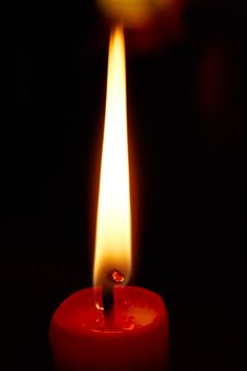 Free Lighting Red Candle 4 Stock Image - 3757531