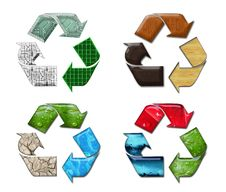 Four Recycles Stock Images