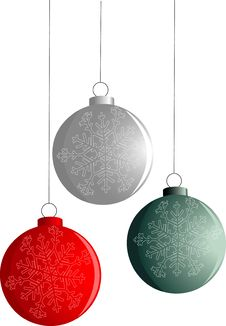 Free Three Isolated New-Year Balls Royalty Free Stock Photo - 3758725