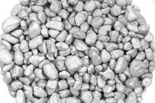 Free Silver Pebble Stones Royalty Free Stock Photo - 3759155