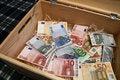 Free Box Of Money Royalty Free Stock Photography - 3762397