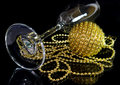 Free Glass For Champagne, Christmas Ball Royalty Free Stock Photos - 3765388
