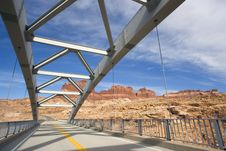 Bridge Above Canyon Royalty Free Stock Images
