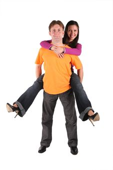 Free Woman Embracing Man Stock Photography - 3760312