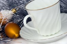 Free Cup Of Coffee At Christmas Stock Images - 3761214