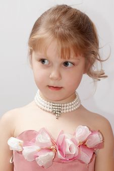 Free Girl In Pink Dress Royalty Free Stock Photos - 3761248