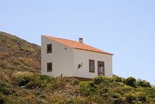 Lonely House On The Hill In Portugal Stock Image