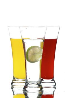 Free Glasses With Juice And Lemon Royalty Free Stock Photography - 3762117