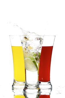 Free Glasses With Juice And Lemon Stock Photo - 3762190