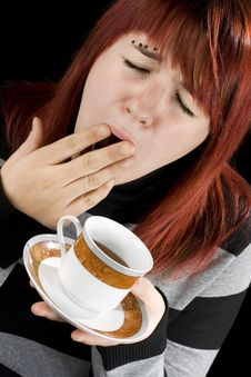 Free Coffee Girl Stock Image - 3762551