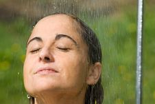 Free Dreaming Under The Shower Stock Image - 3762631
