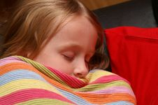 Free Sleeping Little Girl Stock Photos - 3763013