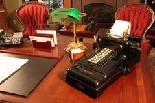 Free Antique Adding Machine Royalty Free Stock Image - 3763556