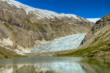 Nigardsbreen Glacier In Norway Stock Images