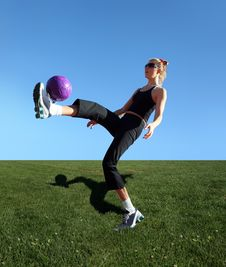 Free Exercising With The Ball Royalty Free Stock Photos - 3764518