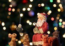 A Fishing Santa Stock Photos