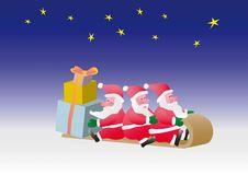 Free Three Santa Royalty Free Stock Photos - 3765628